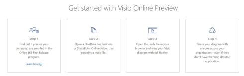 Get started with Visio Online Preview